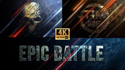 پروژه افترافکت نمایش لوگو حماسی Epic Battle Logo