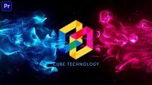پروژه پریمیر نمایش لوگو با انفجار پارتیکلی Flowing Particles Explosion Logo