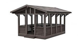 مدل سه بعدی آلاچیق Garden Gazebo Made of Wood 05