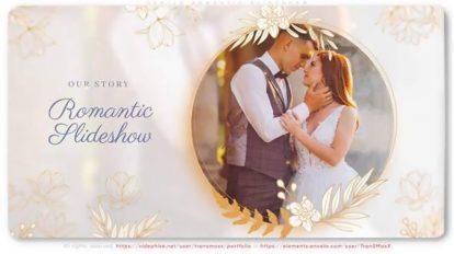 پروژه افترافکت اسلایدشو عاشقانه Gentle Romantic Slideshow