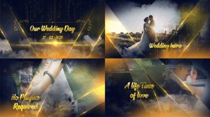 پروژه افترافکت اسلایدشو عروسی Golden Elegant Wedding Slide