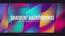 پروژه افترافکت مجموعه زمینه متحرک گرادینت Gradient Backgrounds
