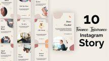 پروژه افترافکت مجموعه استوری اینستاگرام Graphical Instagram Story Pack