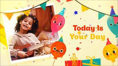 پروژه افترافکت اسلایدشو تولد Happy Birthday Slideshow 3