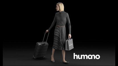 مدل سه بعدی زن با چمدان Elegant Woman Walking with a Suitcase