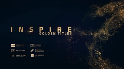پروژه افترافکت نمایش عناوین طلایی Inspire Smooth Golden Titles