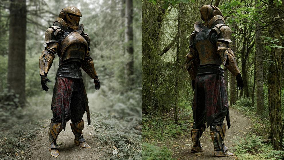 مدل سه بعدی کاراکتر شوالیه آهنی Iron Knight