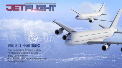 پروژه افترافکت نمایش پرواز هواپیما Jet Flight