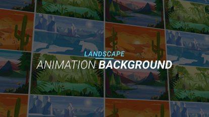پروژه افترافکت مجموعه زمینه منظره Landscape Animation Background