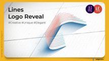 پروژه افترافکت نمایش لوگو با خطوط Architect Lines Logo Reveal