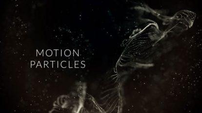 پروژه افترافکت نمایش عناوین پارتیکلی Motion Particles