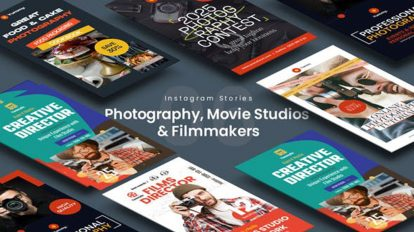 پروژه افترافکت استوری اینستاگرام استودیو فیلمسازی Movie Studios Stories