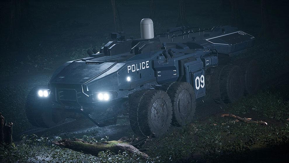 مدل سه بعدی خودرو گارد ویژه پلیس Police APC