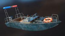 مدل سه بعدی قایق پلیس Powerboat Police