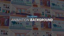 پروژه افترافکت مجموعه زمینه متحرک فروشگاه Shopping Animation Background
