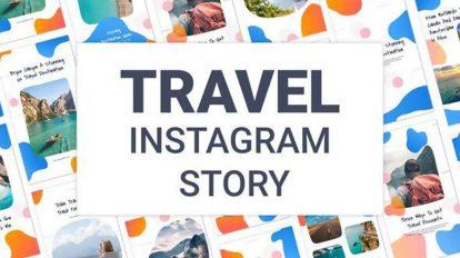 پروژه افترافکت مجموعه استوری اینستاگرام سفر Travel Instagram Story Pack