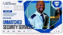 پروژه افترافکت تیزر تبلیغاتی خدمات امنیتی Unmatched Security Services