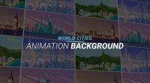 پروژه افترافکت مجموعه زمینه متحرک شهرهای دنیا World Cities