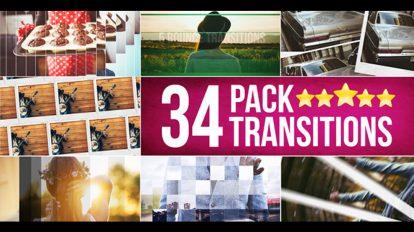 پروژه افترافکت مجموعه 34 ترانزیشن ویدیویی
