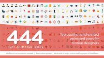 پروژه افترافکت 444 انیمیشن آیکون فلت