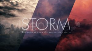 فوتیج تایم لپس زمینه آسمان با ابرهای طوفانی