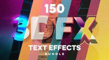 مجموعه 150 افکت متن سه بعدی حرفهای برای فتوشاپ