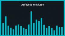 موزیک زمینه لوگو آکوستیک Accoustic Folk Logo