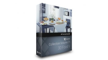 مجموعه مدل سه بعدی غذا CGAxis Models 71 Food V