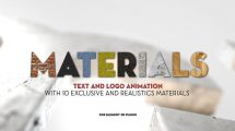 پروژه افترافکت متریال سه بعدی Element 3D Materials