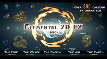 مجموعه ویدیوی موشن گرافیک افکت کارتونی Elemental 2D FX Pack