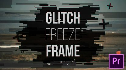پروژه پریمیر اسلایدشو با افکت تثبیت فریم Glitch Freeze Frame