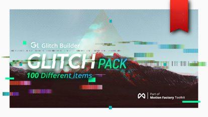 پروژه افترافکت ساخت افکت قطعی گلیچ Glitch Pro Essential Effects Pack