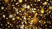 مجموعه ویدیوی موشن گرافیک پولک های طلایی Gold Confetti Pack