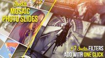 پروژه افترافکت اسلایدهای موزاییکی تصاویر اینستاگرام Insta Mosaic Photo Slides