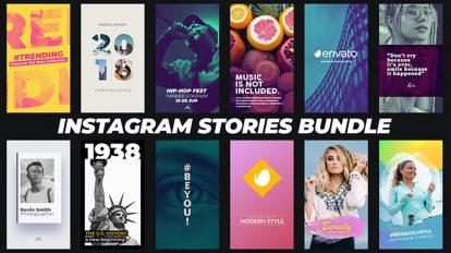 پروژه افترافکت مجموعه استوری اینستاگرام Instagram Stories Bundle
