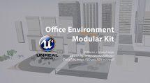 مجموعه مدل سه بعدی محیط اداری Office Environment Modular Kit