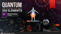 پروژه پریمیر اجزای اینفوگرافیک کوانتوم Quantum HUD