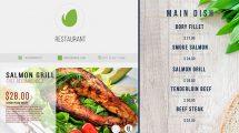 پروژه افترافکت نمایش منوی غذا رستوران Restaurant Digital Food Menu