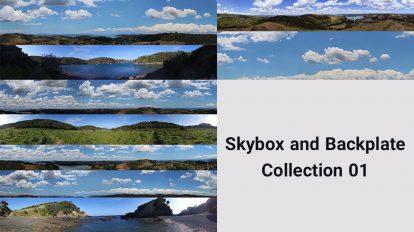 مجموعه تصاویر زمینه مناظر طبیعی Skybox and Backplate Colletion 1