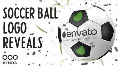 پروژه افترافکت نمایش لوگو با توپ فوتبال Soccer Ball Logo Reveals
