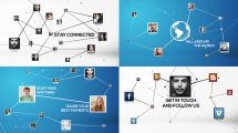 پروژه افترافکت تیزر تبلیغاتی شبکه اجتماعی Stay Connected