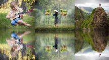اکشن فتوشاپ ساخت افکت بازتاب آب Water Reflection Photoshop Action