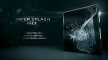 مجموعه ویدیوی موشن گرافیک پاشیدن آب Water Splash Pack 2