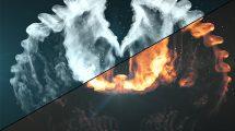پروژه افترافکت نمایش لوگو در میان بال ها Wings Logo Reveal