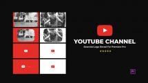 پروژه پریمیر نمایش لوگو کانال یوتیوب YouTube Channel Logo