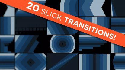مجموعه موشن گرافیک 20 ترانزیشن ویدیویی Slick Transitions