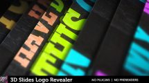 پروژه افترافکت نمایش لوگو اسلاید سه بعدی 3D Slides Logo Revealer