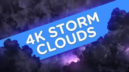 مجموعه ویدیوی موشن گرافیک ابرهای طوفانی 4K Storm Clouds