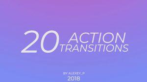 پروژه پریمیر مجموعه ترانزیشن ویدیویی اکشن Action Transitions