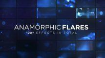 مجموعه فوتیج افکت نور آنامورفیک Anamorphic Flares